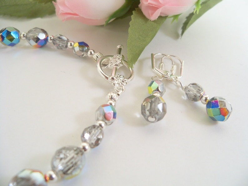 Bracelet and Earrings Bridesmaid Jewelry Bridal Accessories Mother of  Bride Mother of Groom Wedding Jewelry Bridal Jewelry
