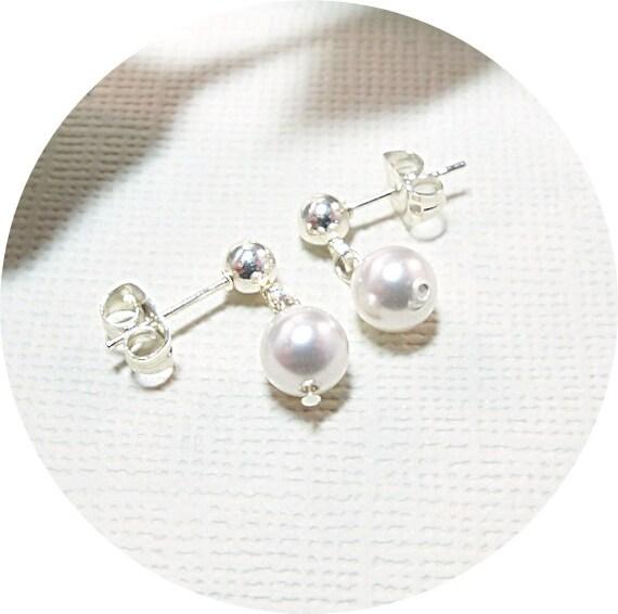 Kleine Mädchen Ohrringe Perlenohrringe Kleinkind Ohrringe | Etsy