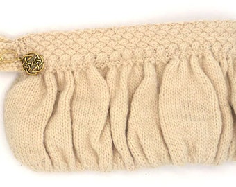 Cable Knit Clutch Purse