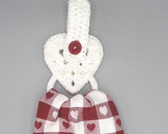 Heart Dish Cloth Holder Pattern
