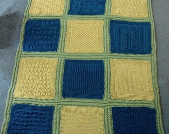 Textured Afghan Squares e-book Pattern