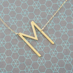 gift for woman necklace simple Gold silver big letter initial alphabet B necklace minimalist bridesmaid rose gold trendy