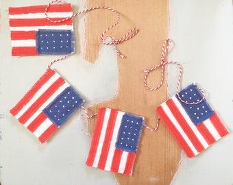 BANNER america bunting USA flag