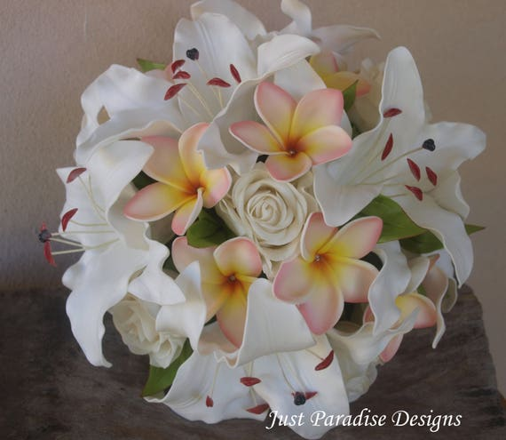 How To Make A Wedding Bouquet With Artificial Flowers.Wedding Bouquet Bridal Bouquet Artificial Flowers Lily Etsy