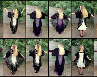 Stevie Nicks PATTERNS, Raven Wings, Spiderweb Mandala, Tunic Vest Pattern, Gauntlets Crochet Pattern, Crochet Coat PATTERNS,