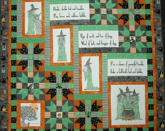 The Three Witches Halloween Quilt Pattern, PDF version