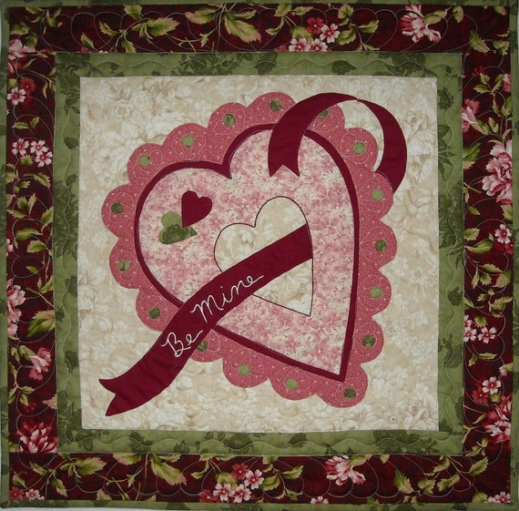 Be Mine Valentine Wall Quilt Pattern Etsy