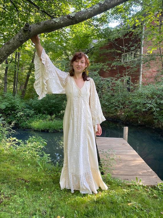 Gunne Sax Lace Muslin Dress 1970s Original Jessica