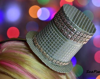 Fascinator, Top Hat Fascinator, Mini Top Hat, Kentucky Derby Fascinator, Cosplay, Costume Accessories, Woman Top Hat, Steampunk Fascinator