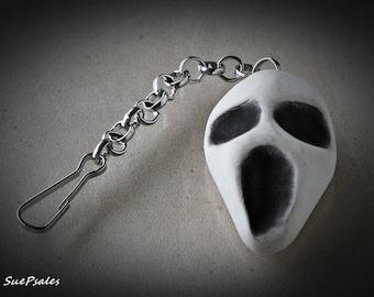 Halloween Charms, Halloween Jewelry, Halloween Keychain, Halloween Zipper Pull, Ghost Zipper Pull, Ghost, Polymer Clay Ghost, Ghost Charm