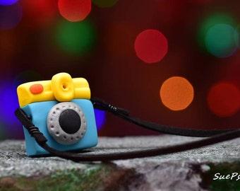 Polymer Clay Camera Ornament, Holga Camera Ornament, Miniature Holga Camera, Polymer Clay Camera, Camera Ornament, Camera Sculpture