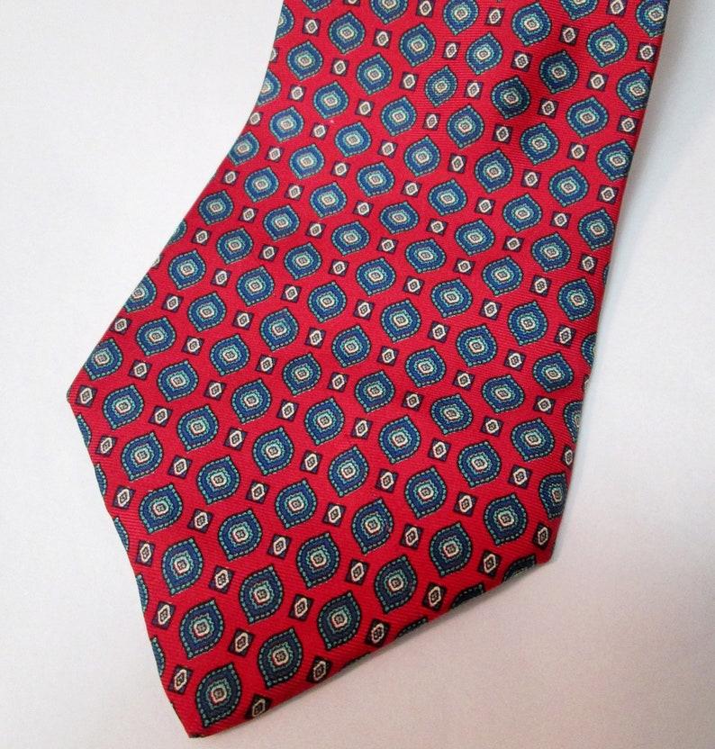 d3054ad0a794 Vintage Buckingham Burgundy Foulard Silk Tie   Etsy
