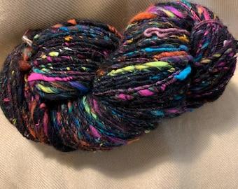 Merino/Bamboo/Nylon Hand Spun Art Yarn