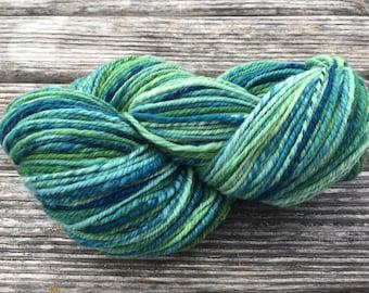 Green Medley Wool Hand Spun Yarn