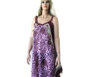 3f4ebfe5faee Pink burgundy animal print long summer dress -Santorini Dress-Scarf dress-Pareo Cruise vacation  fashion-Tall length-Hi-Low hem.