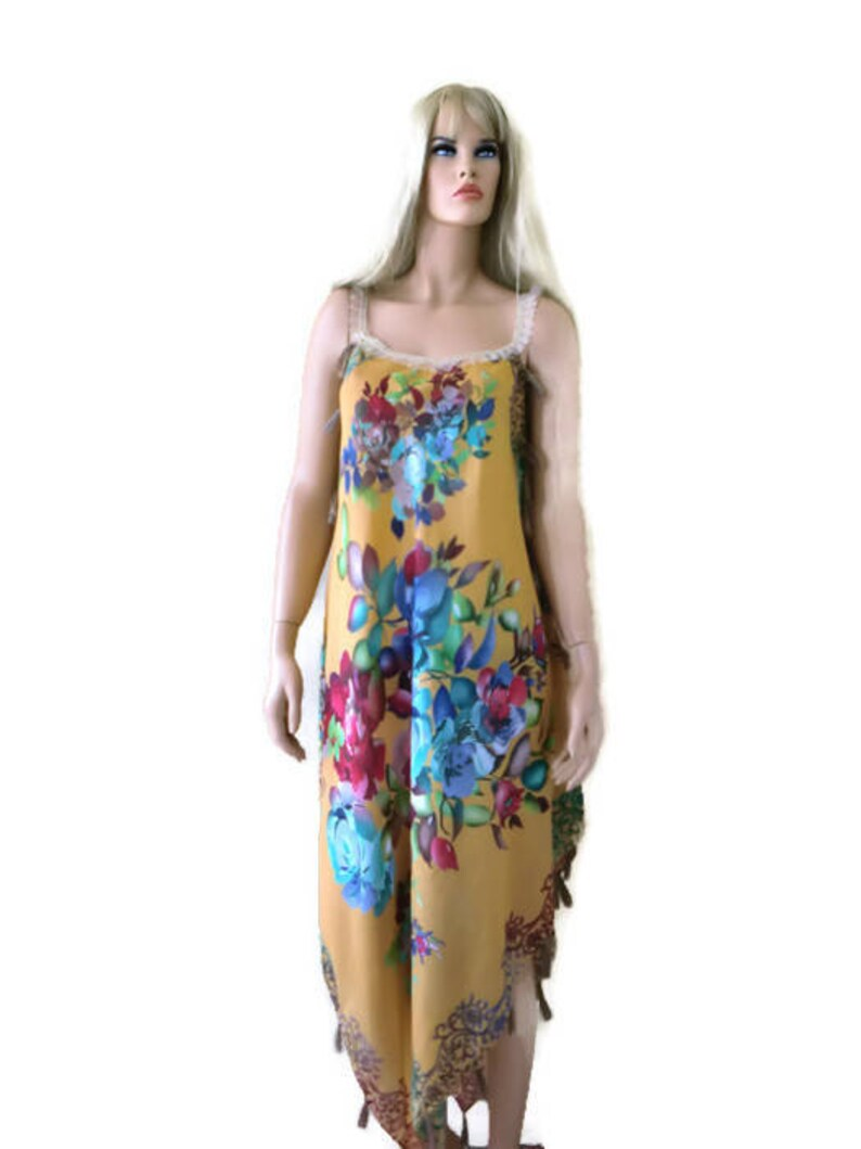 6dd4ce1966a7 Take me to Santorini mustard floral voile summer dress with