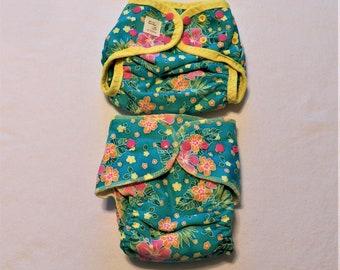 Custom Diaper Burp Cloth Set Tropicana Collection