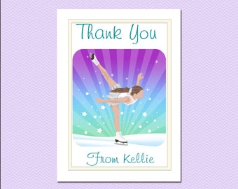 Ice Skating Dreams Thank You Notes (Pack of 10)