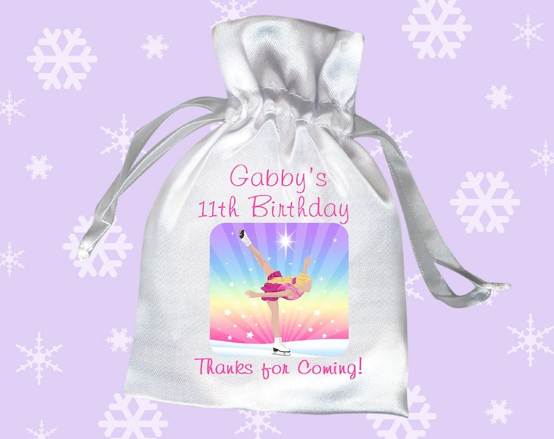 Ice Skating Birthday Party Favor Bags Pack Of 10