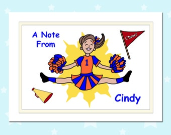 Cheerleader Thank You Notes (Pack of 10) - Cheerleading