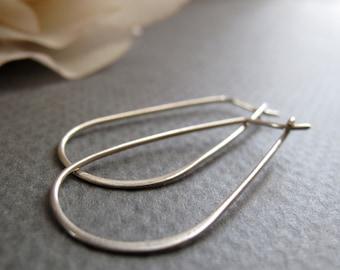 Sterling Silver Hoop Earrings, Everyday Sterling Silver Earrings, Women's Gift Jewelry- SIMPLICITY