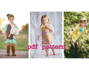 PDF Peasant Dress Sleeve Options Pattern for use with Fun4Me2 Peasant Dress Patterns - Sizes 6-9m, 12-18m, 2t ,3t, 4t, 5t, 6 & 7