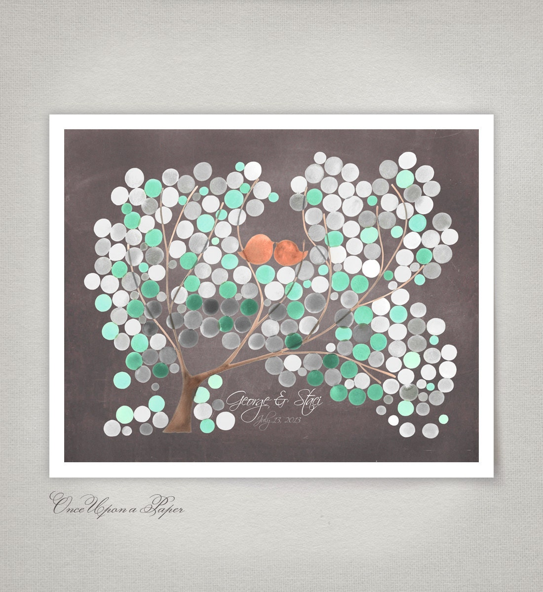 Guest Book Printing: Guest Book Tree Wedding Guestbook Print Alternative Guest