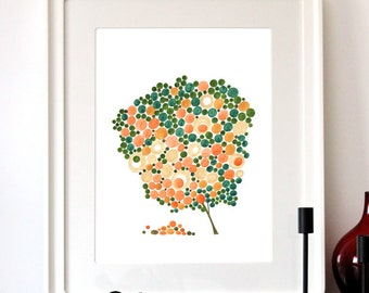 Rye Love Birds - Giclee Art Print Reproduction of Watercolor Painting - Trees of Life Collection