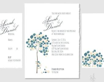 Custom Wedding Suite Invitation Package Printable - Bar Bat Mitzvah Invitation, Save the Date, Wedding Invitations, RSVP, Thank You
