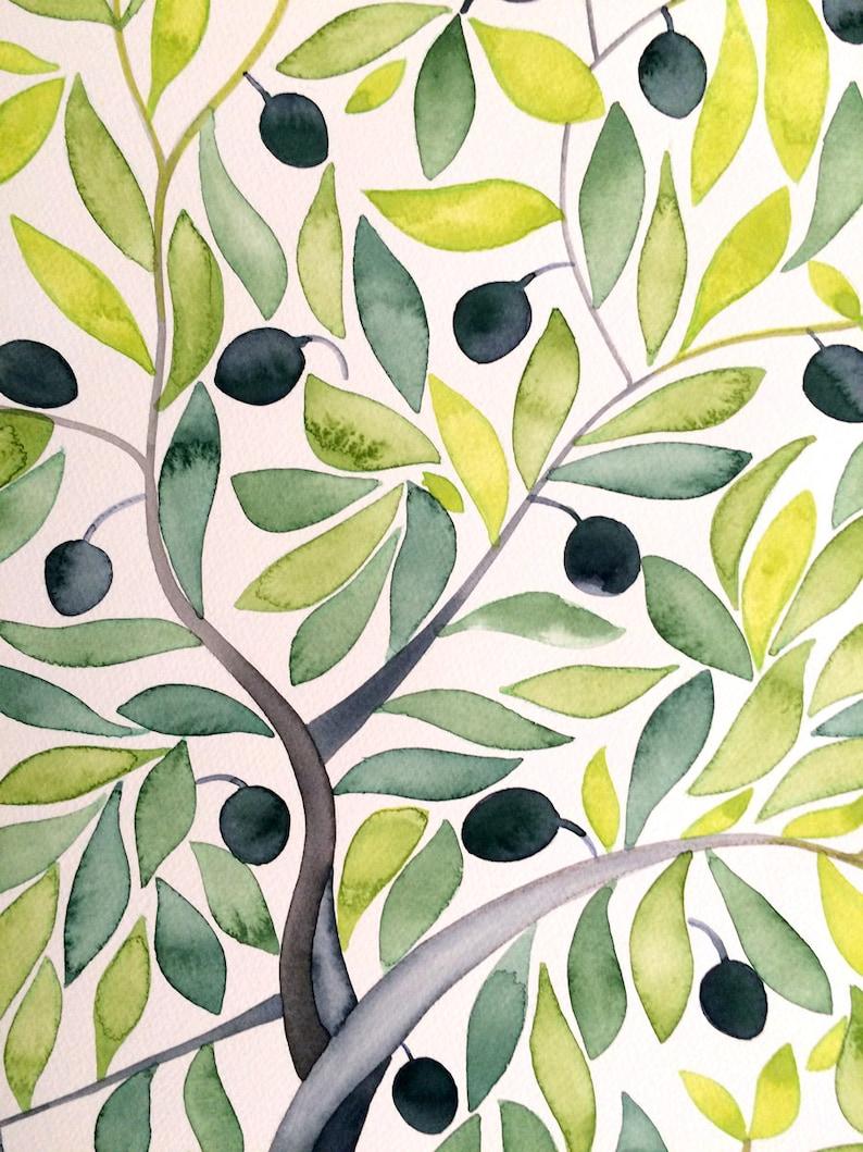 Custom Mediterranean Greenery wedding guestbook alternative Watercolor Guest Book Olive Tree christmas wedding planner