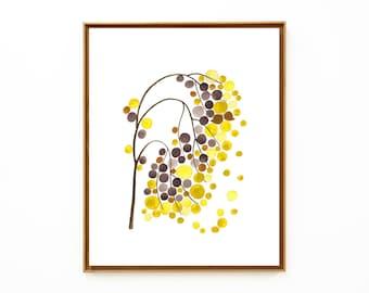 Inspirational art print - YELLOW LIGHT TRAIL