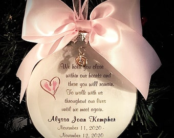 Miscarriage, Baby Keepsake Gift, Baby Memorial, We Hold You Close, Ornament