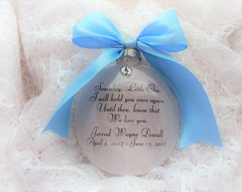 Baby Loss Ornament Memorial Someday, Little One with Baby Feet Charm