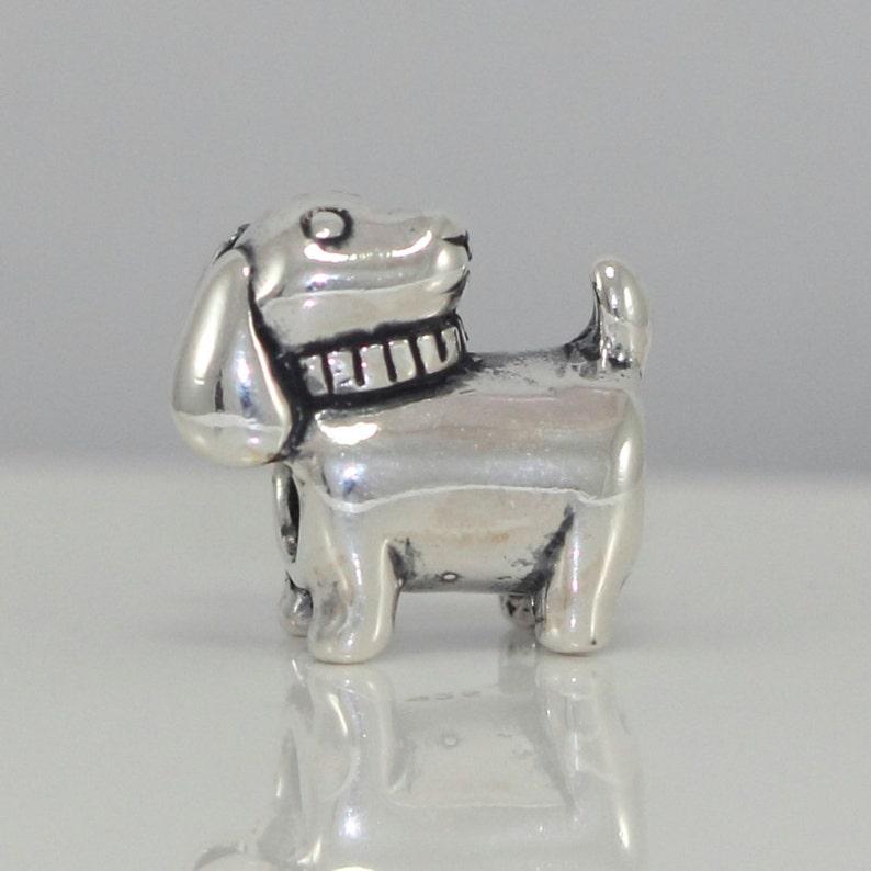 1pc Cute Dog Charm Puppy Charm Sterling Silver Animal Charm Bead fit All Charm Bracelets Women Girls Birthday Gifts #EC489