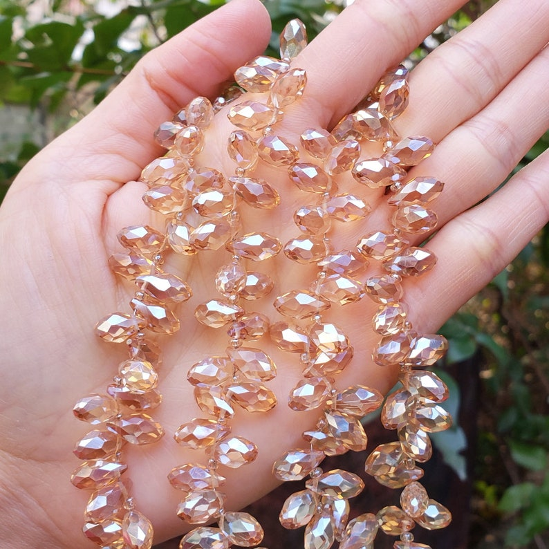 U Pick Top Quality Czech Top Drilled 12mm Teardrop Pear Briolette Crystal Faceted Loose Pendant Beads for Jewelry Craft Charm Making CCT2