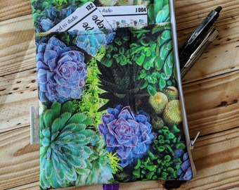 Succulent Pencil pouch, custom made, Zippered planner band, planner bag, life planner accessory, planner accessories, planny pack, zip pouch