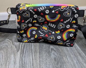 Love is Love Pride Crossbody bag, Rainbow fanny pack