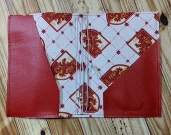 Red wizard House crest B6 travelers notebook, red lion wizard house, fauxdori, notebook case