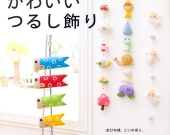 Felt Hanging Decoration - Japanese craft book