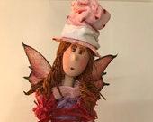 fée,ange,ailes,ange gardien,personnage mystique,rose,violet