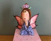 fée des dents,fée,  boîte à bijoux,coffret,coffre à bijoux,boîte décorative,boîte à cadeau,rose,fushia,violet,red hair,art doll
