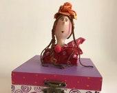 Boîte décorative,rose,blanc,fleur,boîte de bois,rouquine,coffre à trésor,coffret,boîte à cadeau,boîte à souvenir