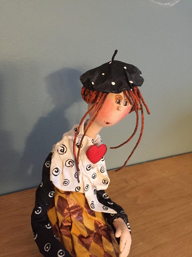 ooak art doll-french beretaristic dolldecorative art image 0