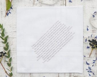 Personalised Handkerchief - Men's Cotton Handkerchief - Personalised Printed Handkerchief - Groom Handkerchief - In Gift Box