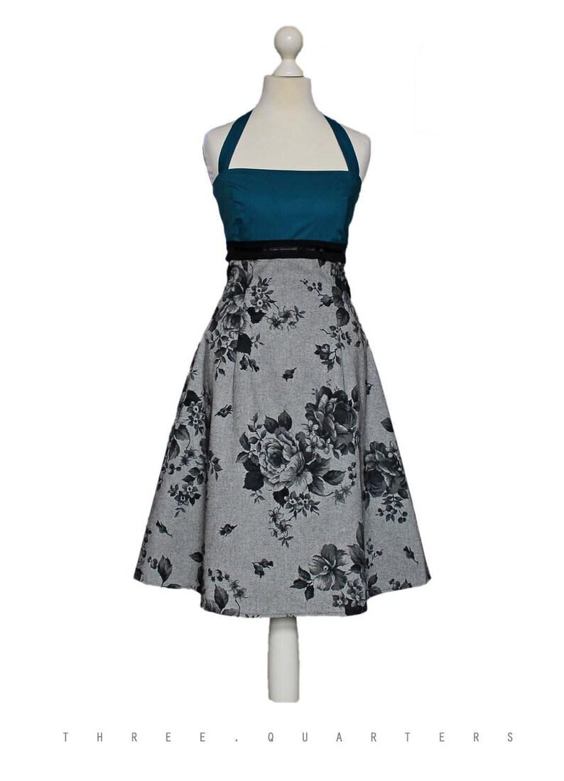 bb68f938e87d Abito da sposa rose blu petrolio vestito vestito da