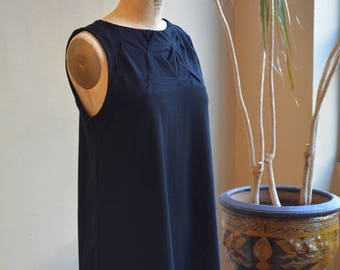 Folded Swing Dress, Tank, Cotton Jersey, Classic Modern- made to order, one of a kind