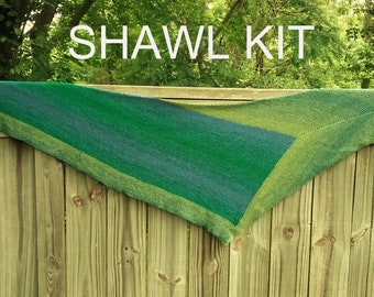 AREAS Shawl - SHAWL KIT  -- Color Changing Cotton yarn (200 gr/960 yards)