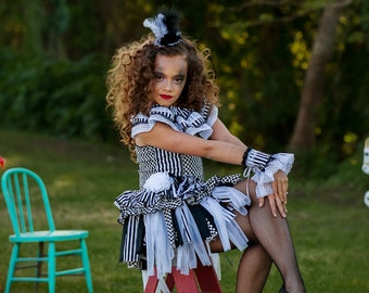 Circus Birthday Outfit, Trapeze Artist Costume, Girls Trapeze Outfit, Circus Girl Outfit, Circus Costume, Carnival Birthday Outfit, Trapeze