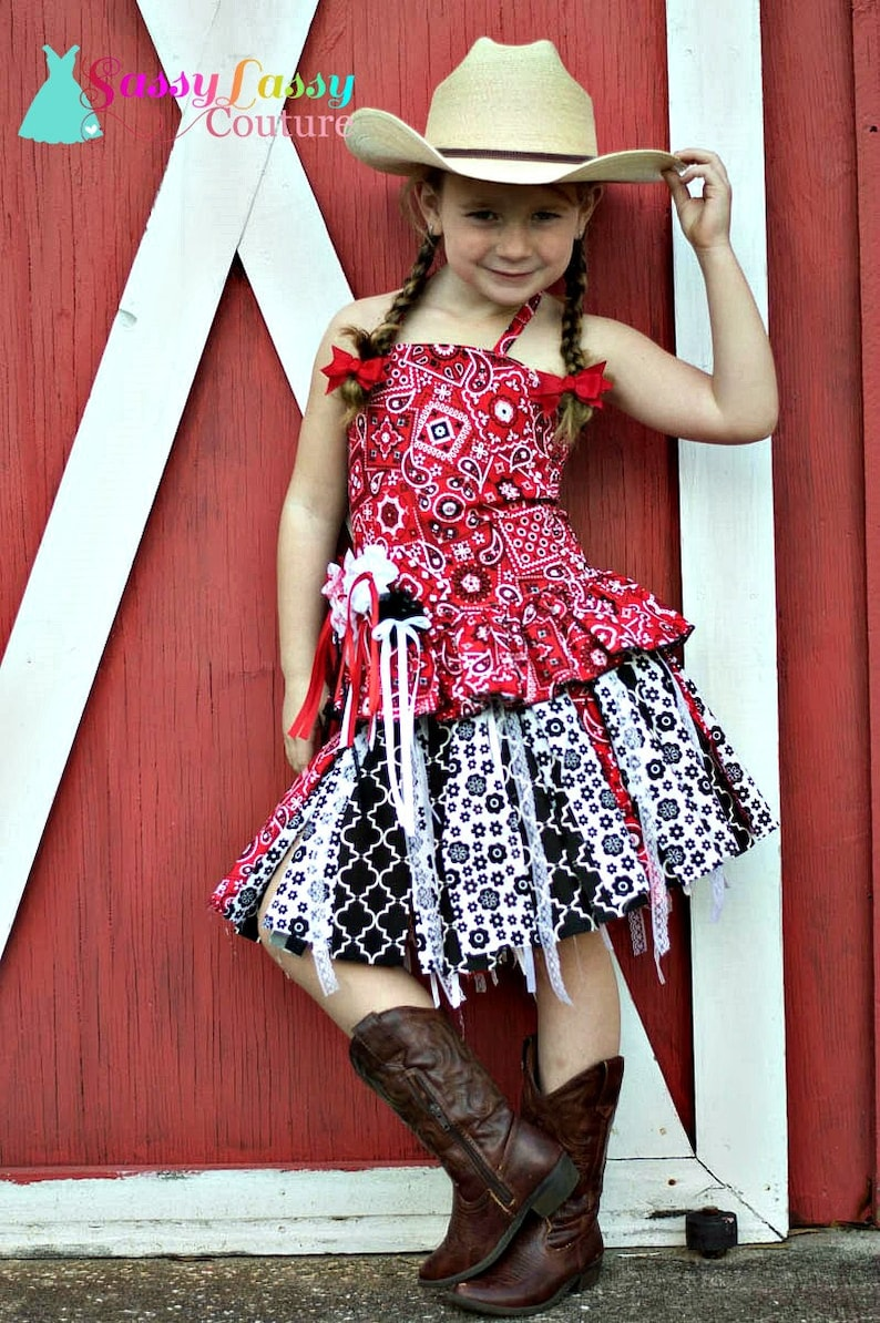 Cowgirl Dress Birthday Girls Western Wear