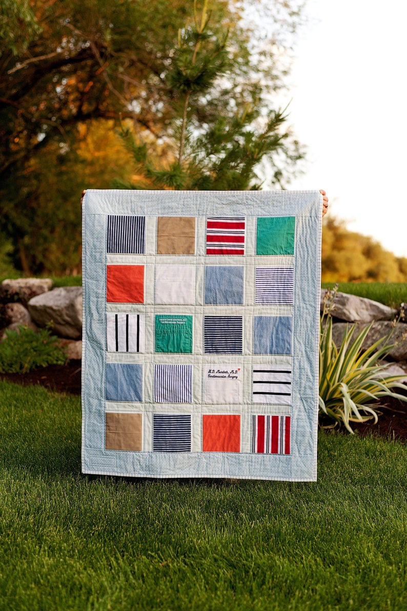Custom Memory Quilt T-shirt Quilt Blanket Custom Heirloom Quilt-Made to Order Quilt T-shirt Quilt Custom Custom Keepsake Quilt
